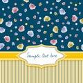 Stripe&roses Fotografia Royalty Free