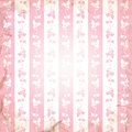 Striped background with floral ornament in the grunge style. Royalty Free Stock Photo
