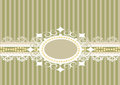 Striped background with lace Royalty Free Stock Photo