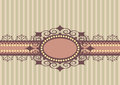 Striped background with lace Royalty Free Stock Photos