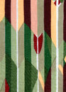 Striped batik fabric in warm colours Royalty Free Stock Images