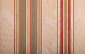 Striped Beige Vintage Wallpape...