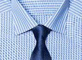 Striped blue shirt with tie Royalty Free Stock Photo