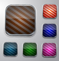 Striped buttons in different colors Stock Images