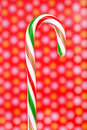 Striped candy cane Royalty Free Stock Image