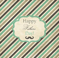 Striped card for fathers day with frame Royalty Free Stock Photos