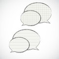 Striped and checkered speech bubbles Royalty Free Stock Photo