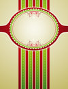 Striped christmas background,  Royalty Free Stock Photo
