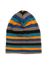 Striped colored knitted hat. Royalty Free Stock Photo