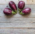 Striped eggplants Royalty Free Stock Photo
