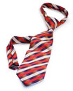 Striped elegance tie Stock Photo