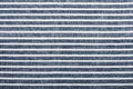 Striped fabric texture white and blue with copy space Royalty Free Stock Image