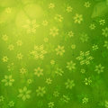 Striped flowers in green old paper background Royalty Free Stock Image