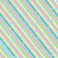 Striped geometric pattern light blue background vector vintage design with colorful dashed lines