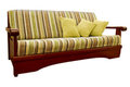 Striped green and brown sofa Royalty Free Stock Photo