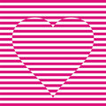 Striped heart Stock Photos