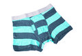 Striped male brief boxers isolated on white background Royalty Free Stock Photography