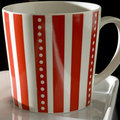Striped mug square Stock Images