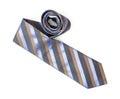 Striped Necktie On The White B...
