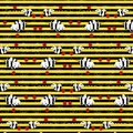 Striped Pattern With The Image...