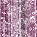 Striped pink floral pattern Royalty Free Stock Photos