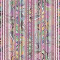 Striped pink greek key seamless borders pattern. Patterned lace Royalty Free Stock Photo