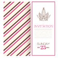 Striped princess invitation template vector illustration Royalty Free Stock Image