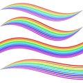Striped rainbow waves Royalty Free Stock Photo