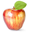 Striped red apple Royalty Free Stock Photography