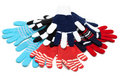 Striped red much pairs of the gloves Royalty Free Stock Image
