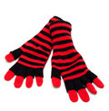 Striped red pair of the gloves Stock Images