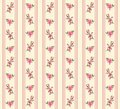 Striped retro floral seamless Royalty Free Stock Images