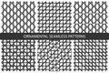 Striped seamless geometric patterns.
