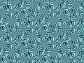 Striped shapes with rays. Abstract geometric seamless pattern. Vector