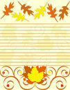 Striped sheet of paper with  decorate  border. Stock Photography