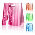 Striped shopping bags Royalty Free Stock Photo