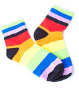 Striped socks Stock Image