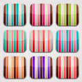 Striped squares background for apps textures in round square shapes Royalty Free Stock Images
