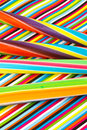 Striped sticks of rock candy on a background Royalty Free Stock Photography