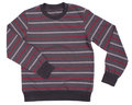 Striped sweater for children on a white background Stock Image