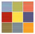 Striped tube pattern collection in different color Royalty Free Stock Photo