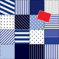 Striped vest patchwork Royalty Free Stock Photography