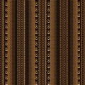 Striped vintage seamless borders pattern. Patterned lace lines, Royalty Free Stock Photo