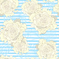 Striped vintage seamless pattern Royalty Free Stock Photos
