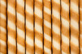 Striped wafer rolls Royalty Free Stock Photography