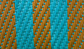 Striped weave turquoise with brown Royalty Free Stock Photo