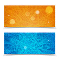 Striped website header or banner set abstract Stock Photography