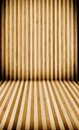 Striped wooden floor and wall background with vertical horizontal lines Royalty Free Stock Photography