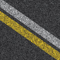Stripes on asphalt texture illustration Stock Photography