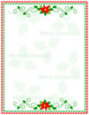 Stripes christmas frame Royalty Free Stock Images